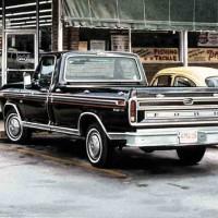 BLACK FORD   1975   8 X 12 5:8   W:C