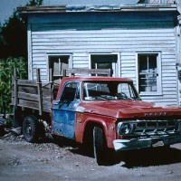 RED AND BLUE TRUCK	 | 1983  | 10 1:2 x 14	 | W:C
